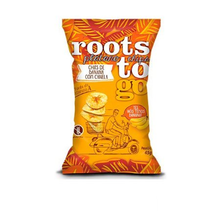 Chips de Banana com Canela Roots To Go