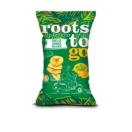 Chips de Banana Salgada Roots To Go