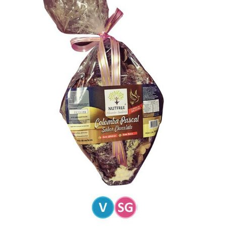 Colomba Pascal com Gotas de Chocolate Nutfree 500g