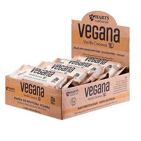 Barras de Proteína Vegana Vanilla Coconut Hart's - Caixa com 12