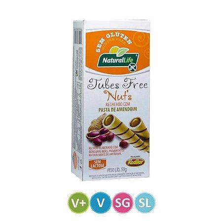 Tubetes com Creme de Amendoim - Sem Glúten / Sem Lactose