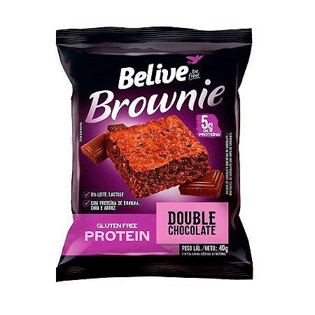 Brownie Protein Double Chocolate Sem Glúten Belive