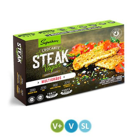 Steak Vegan Multigrãos Superbom