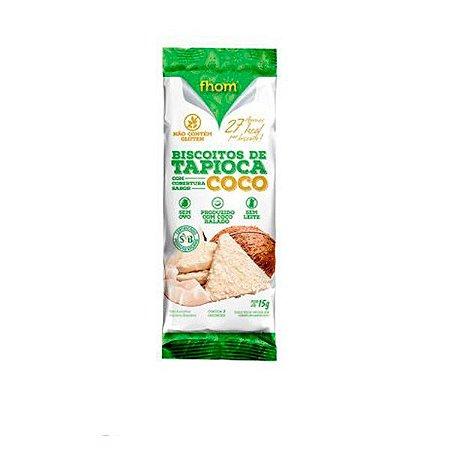 Biscoito de Tapioca Cobertura de Coco - sachê 3 unidades
