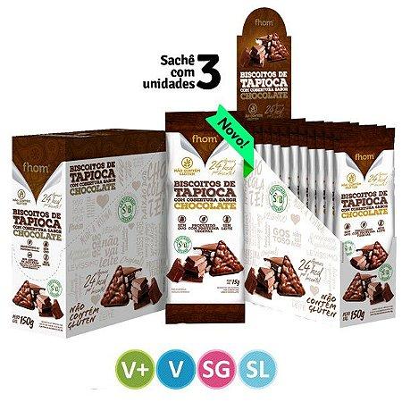 Biscoito de Tapioca Cobertura de Chocolate