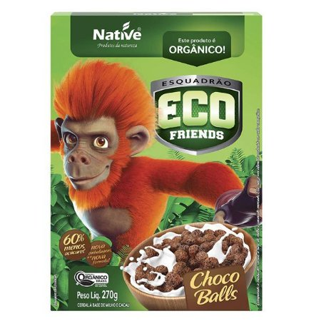 Cereal Matinal Orgânico Choco Balls Native