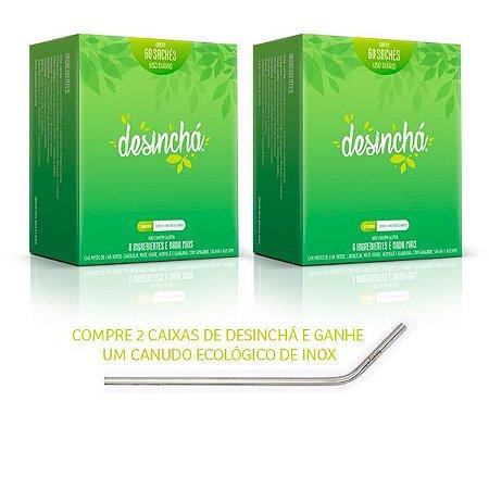 Desinchá Chá Diário  - LEVE 2 caixas GANHE 1 CANUDO INOX