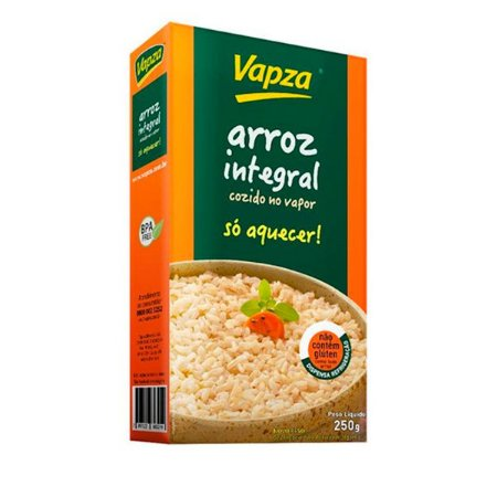 Arroz Integral Cozido Vapza 250g
