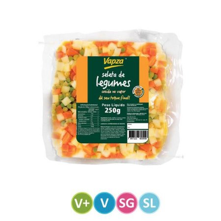 Seleta de Legumes Cozidos no Vapor Vapza 250g