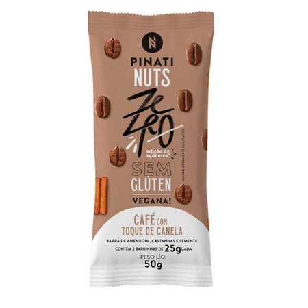 Barra de Nuts Vegana Café Pinati - 2 unidades
