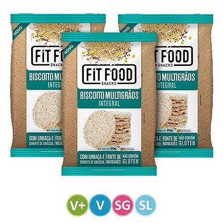 Biscoitos de Arroz Integral Multigrãos - Kit 3 unidades