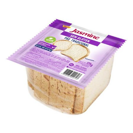 Pão Fatiado Tradicional Sem Glúten Jasmine - 175g