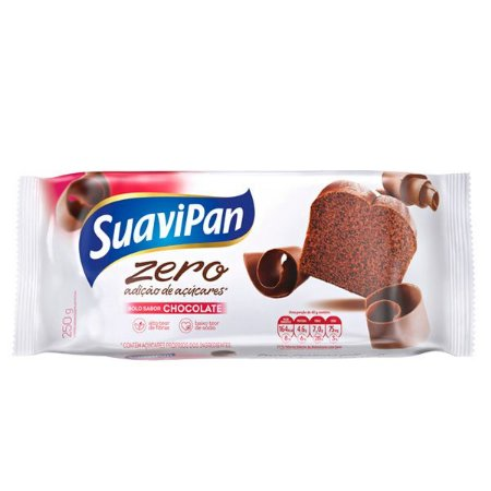 Bolo de Chocolate Zero Adição de Açúcar Suavipan