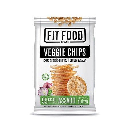 Veggie Chips de Grão de Bico Cebola e Salsa
