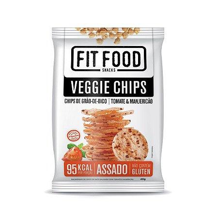 Veggie Chips de Grão de Bico Tomate e Manjericão