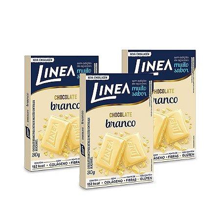 Chocolate Branco com Colágeno Linea 3 unidades