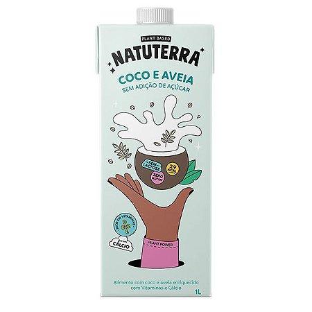 Leite de Coco e Aveia Zero Açúcar Natuterra 1 Litro