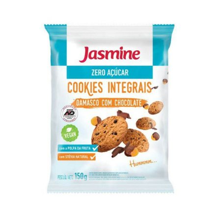 Cookies Zero Açúcar Damasco com Chocolate Jasmine 150g