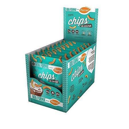 Chips de Coco Flormel - Caixa com 8 unidades