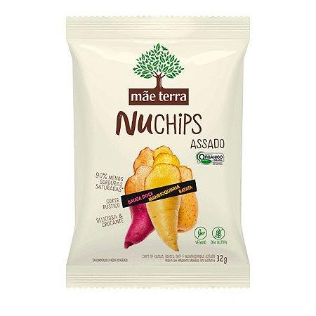 Snack Batata e Mandioquinha NuChips Mãe Terra