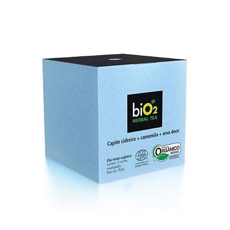 Chá de Camomila Orgânico com Capim Cidreira e Erva Doce