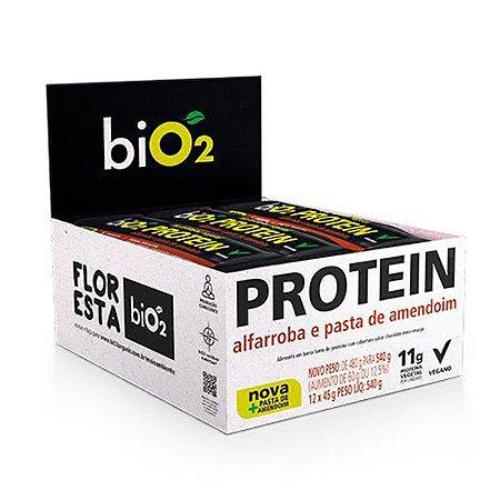 Barra Proteína Alfarroba e Pasta de Amendoim - Caixa 12 unidades