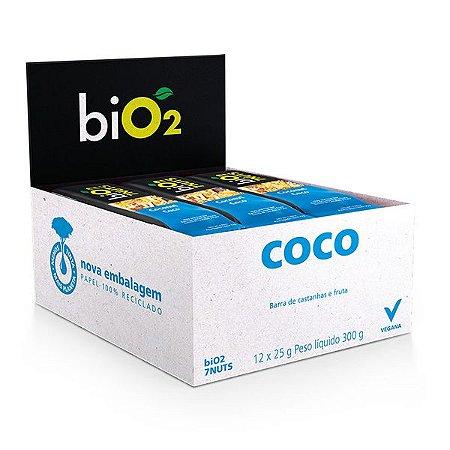 Barra 7 Castanhas + Coco Bio2 Caixa 12 un