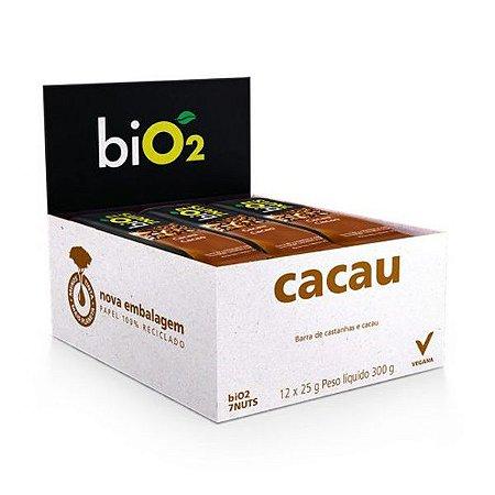 Barra 7 Castanhas + Cacau Bio2  - Caixa 12 unidades