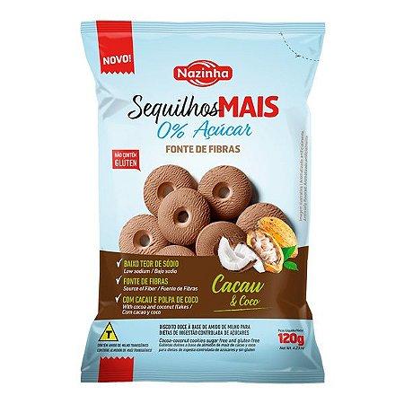 Sequilhos Zero Açúcar Cacau e Coco Nazinha