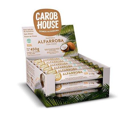 Barrinhas de Coco com Alfarroba Carob House Caixa 18 unidades