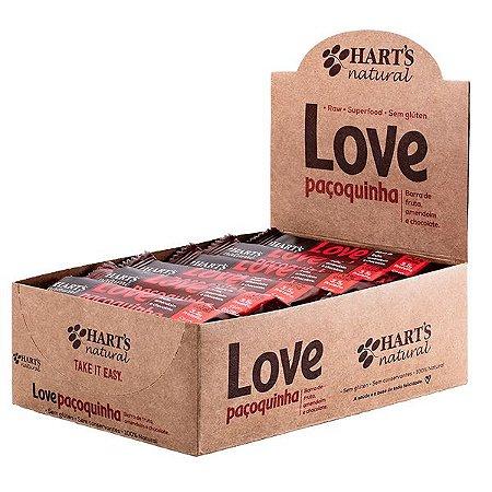Barra Love Paçoquinha Hart's Caixa com 24 uni