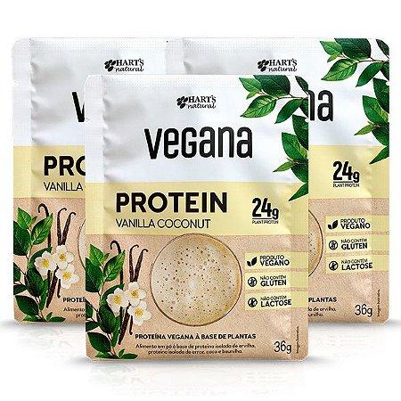 Proteína Vegana Vanilla Coconut Hart's - 3 doses