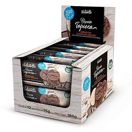 Biscoito de Tapioca Chocolate Amargo Zero Açúcar Display 24 pct