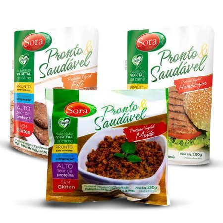 Kit Carnes Vegetais Pronto e Saudável