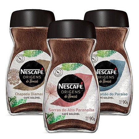 Kit Cafés Solúveis Nescafé Origens do Brasil
