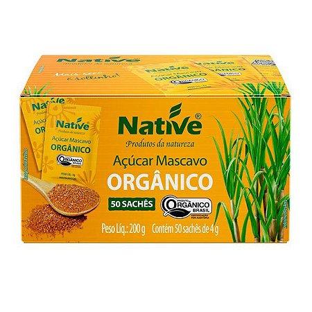 Açúcar Mascavo Orgânico Caixa 50 sachês Native