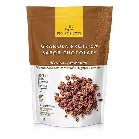 Granola Proteica Chocolate Bianca Simões