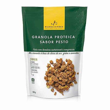 Granola Proteica sabor Pesto Bianca Simões