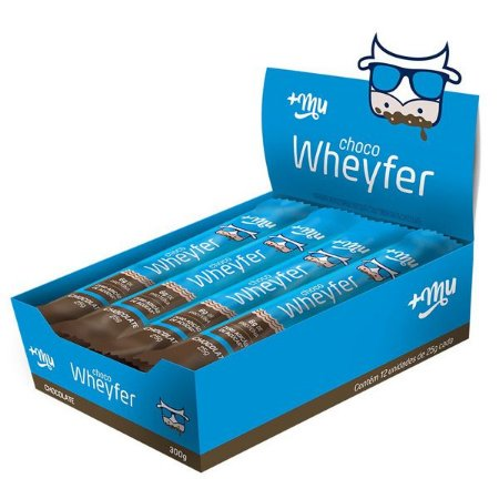 Barra Whey Protein sabor Chocolate +Mu Caixa 12 un