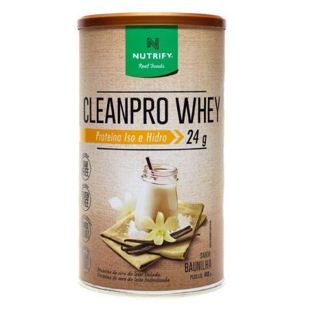 Proteína CleanPro Whey Baunilha Nutrify