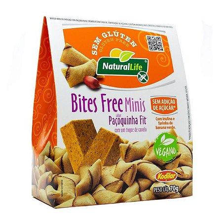 Biscoitos Bites Free Paçoquinha Fit Vegano