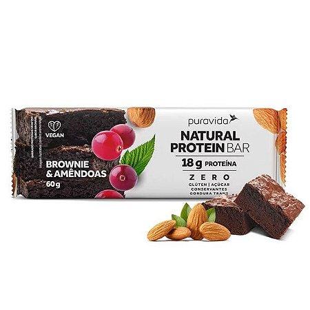 Barra de Proteína Brownie & Amêndoas Pura Vida