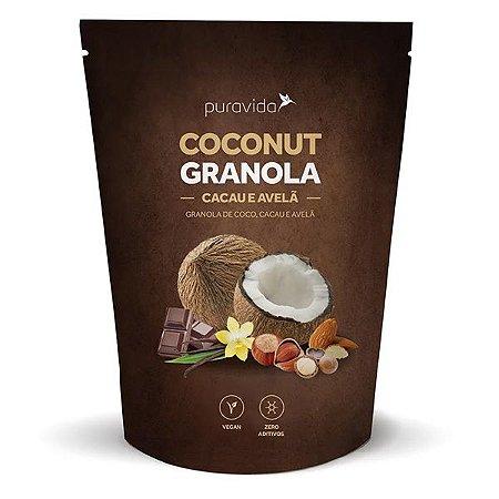 Granola de Coco com Cacau e Avelã Pura Vida