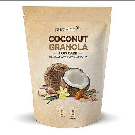 Granola de Coco e Castanha Low Carb Pura Vida