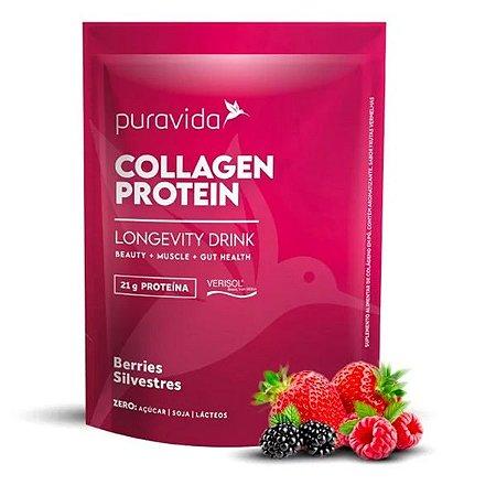 Collagen Protein Frutas Vermelhas Pura Vida 450g