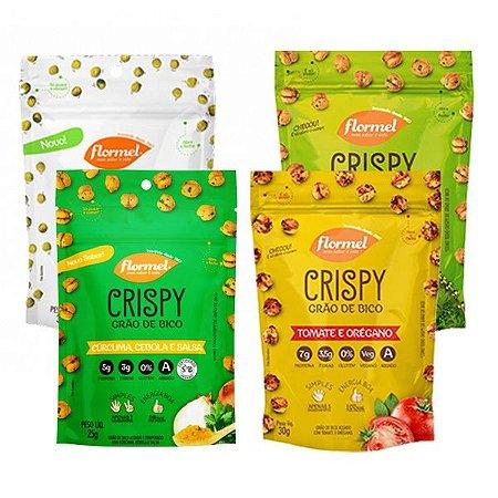 Crispy Grão de Bico Kit 4 Sabores Flormel