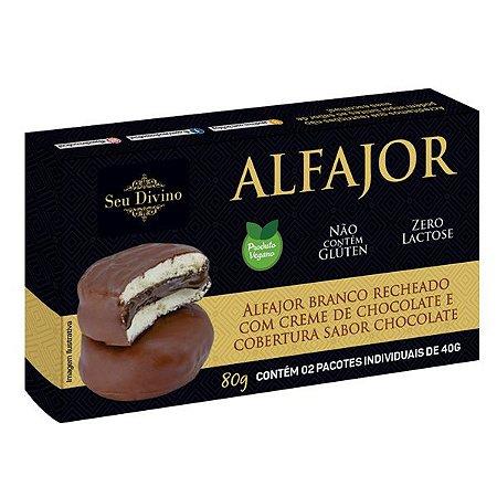 Alfajor Branco de Chocolate Sem Glúten Seu Divino