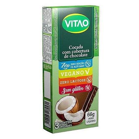 Cocada Zero Açúcar com Cobertura Chocolate Vitao
