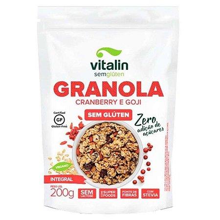 Granola Cranberry e Goji Zero Açúcar Sem Glúten