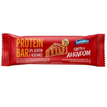 Barras de Proteína Zero Torta de Amendoim Caixa 12 unid
